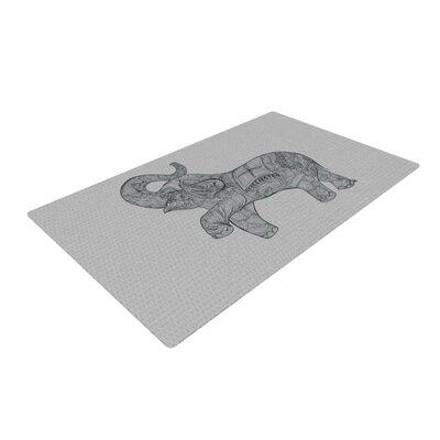 Belinda Gillies Elephant Gray Area Rug Rug Size: 2 x 3