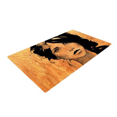 Brittany Guarino Orange/Black Area Rug Rug Size: 4 x 6