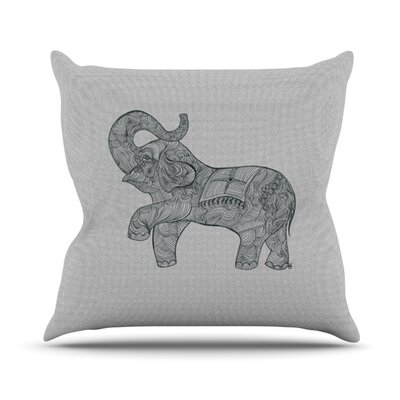 Elephant Outdoor Throw Pillow Size: 16 H x 16 W x 3 D