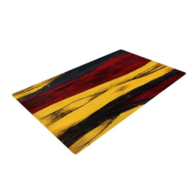 Brittany Guarino Sheets Red/Yellow Area Rug Rug Size: 4 x 6