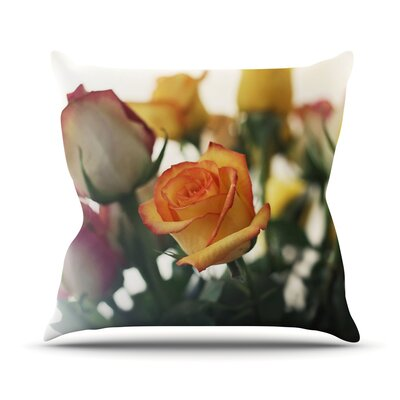 Sweet Reminder by Beth Engel Flowers Throw Pillow Size: 16 H x 16 W x 1 D