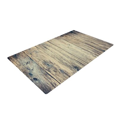 Beth Engel Wood Photography II Brown Area Rug Rug Size: 2 x 3