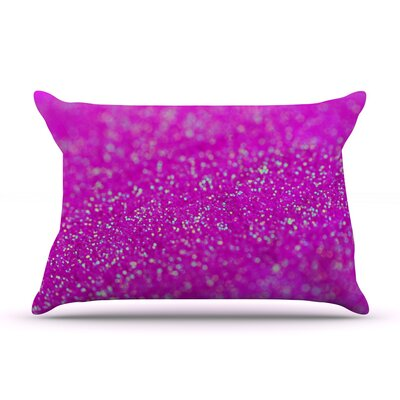Beth Engel Mermaid Sparkles Pillow Case Color: Raspberry