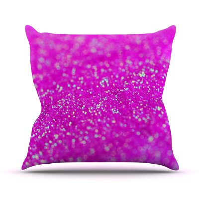 Raspberry Sorbet by Beth Engel Throw Pillow Size: 18 H x 18 W x 1 D