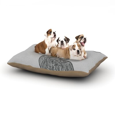 Belinda Gillies Hummingbird Dog Pillow with Fleece Cozy Top Size: Small (40 W x 30 D x 8 H)