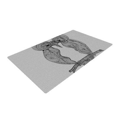 Belinda Gillies Owl Gray Area Rug Rug Size: 2 x 3