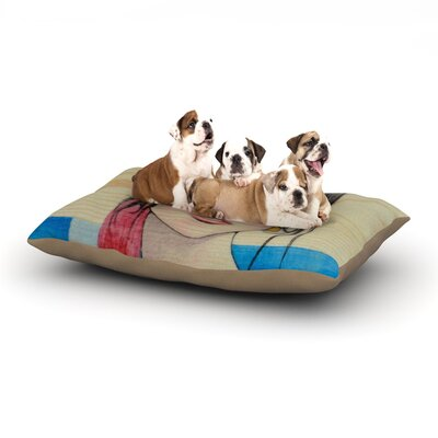 Brittany Guarino Face Dog Pillow with Fleece Cozy Top Size: Small (40 W x 30 D x 8 H)