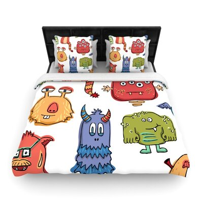 Little Monsters Woven Comforter Duvet Cover Size: Full/Queen