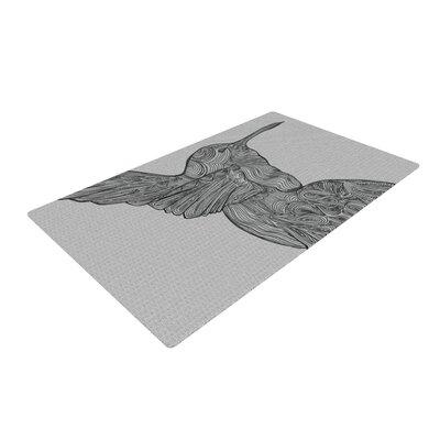 Belinda Gillies Hummingbird Gray Area Rug Rug Size: 2 x 3