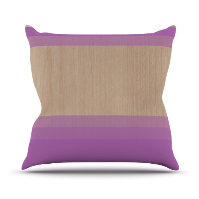 Art by Brittany Guarino Wood Throw Pillow Size: 18 H x 18 W x 1 D, Color: Purple