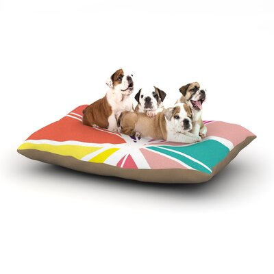 Belinda Gillies Boldly Bright Dog Pillow with Fleece Cozy Top Size: Large (50 W x 40 D x 8 H)