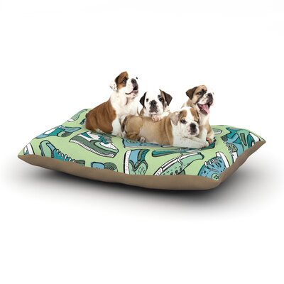 Brienne Jepkema Sneaker Lover I Dog Pillow with Fleece Cozy Top Size: Large (50 W x 40 D x 8 H)