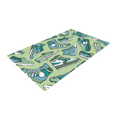 Brienne Jepkema Sneaker Lover I Green/Blue Area Rug