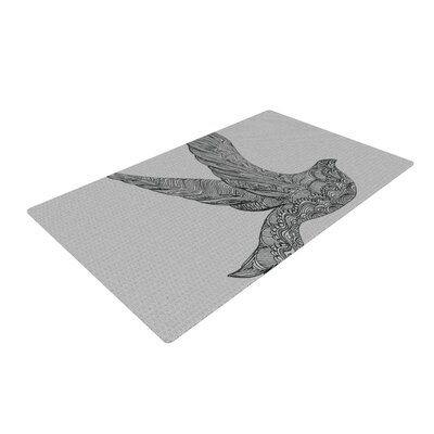 Belinda Gillies Dove Gray Area Rug Rug Size: 4 x 6