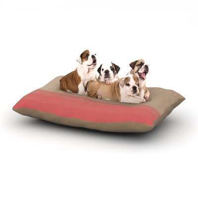 Brittany Guarino Art Wood Dog Pillow with Fleece Cozy Top Size: Large (50 W x 40 D x 8 H), Color: Red/Pink