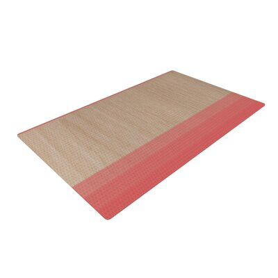 Brittany Guarino Art Red Wood Pink Area Rug
