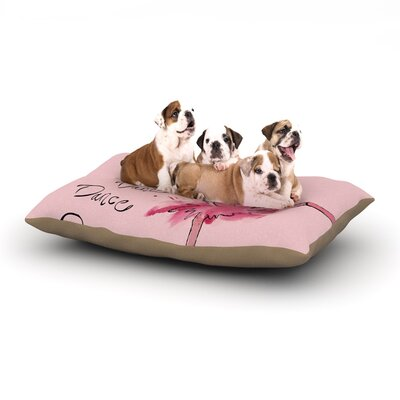 Brienne Jepkema Ballerina Dog Pillow with Fleece Cozy Top Size: Large (50 W x 40 D x 8 H)