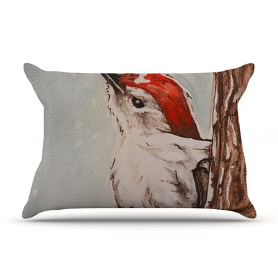 Brittany Guarino Downy Woodpecker Pillow Case