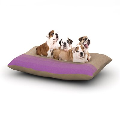 Brittany Guarino Art Wood Dog Pillow with Fleece Cozy Top Size: Small (40 W x 30 D x 8 H), Color: Purple/Lavender