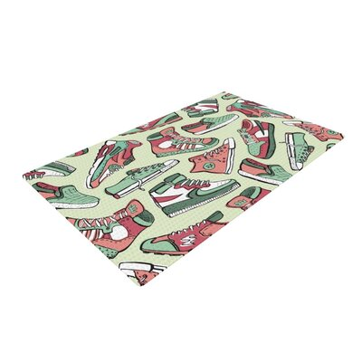 Brienne Jepkema Sneaker Lover II Green/Red Area Rug Rug Size: 4 x 6