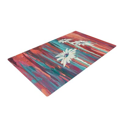 Brienne Jepkema Whole Teal/Orange Area Rug Rug Size: 4 x 6
