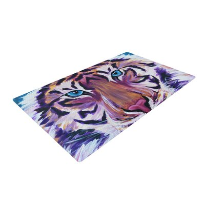 Brienne Jepkema Tiger Orange/Purple Area Rug Rug Size: 2 x 3