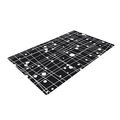 Budi Kwan Woven Web Mono Black Area Rug Rug Size: 2 x 3