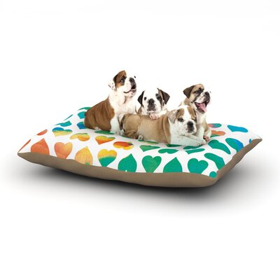 Budi Kwan Be Mine Dog Pillow with Fleece Cozy Top Size: Small (40 W x 30 D x 8 H)