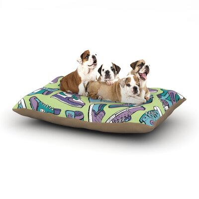 Brienne Jepkema Sneaker Lover IV Dog Pillow with Fleece Cozy Top Size: Small (40 W x 30 D x 8 H)
