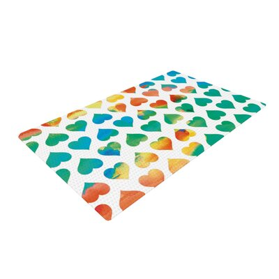 Budi Kwan Be Mine White/Green Area Rug