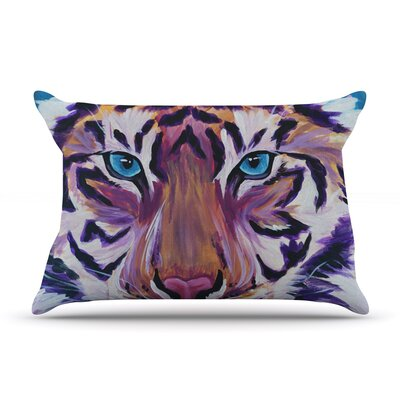 Brienne Jepkema Purple Tiger Pillow Case