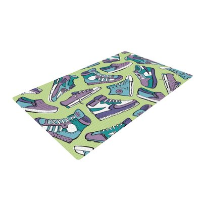 Brienne Jepkema Sneaker Lover IV Green/Purple Area Rug Rug Size: 4 x 6