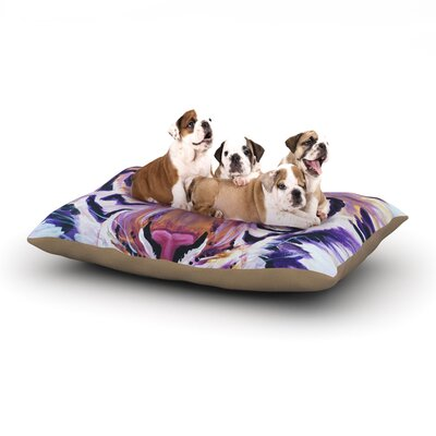Brienne Jepkema Purple Tiger Dog Pillow with Fleece Cozy Top Size: Large (50 W x 40 D x 8 H)