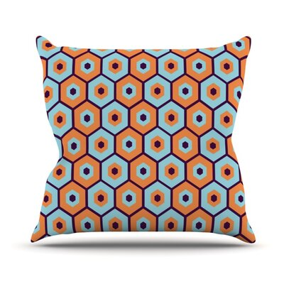 Busy Throw Pillow Size: 16