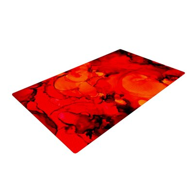 Claire Day Family Photos II Red Area Rug Rug Size: 2 x 3