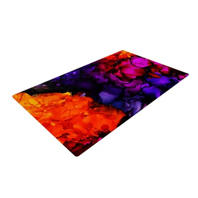 Claire Day Family Photos Orange/Purple Area Rug Rug Size: 4 x 6