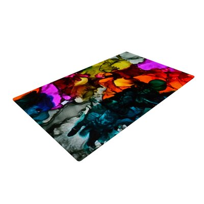 Claire Day Hippie Love Child Black/Orange Area Rug Rug Size: 2 x 3