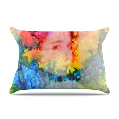 Clairefied by Claire Day Featherweight Pillow Sham Size: King, Fabric: Woven Polyester