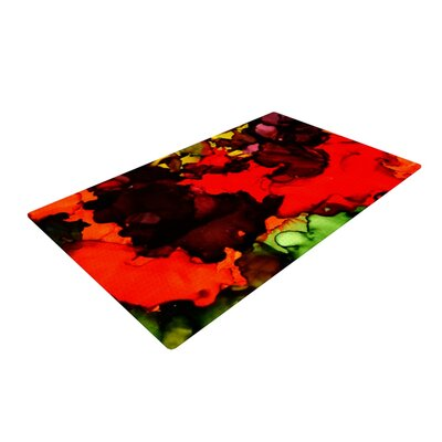 Claire Day Beach Bum Red/Black Area Rug Rug Size: 2 x 3