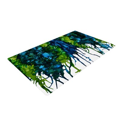 Claire Day Drops Green Area Rug Rug Size: 2 x 3