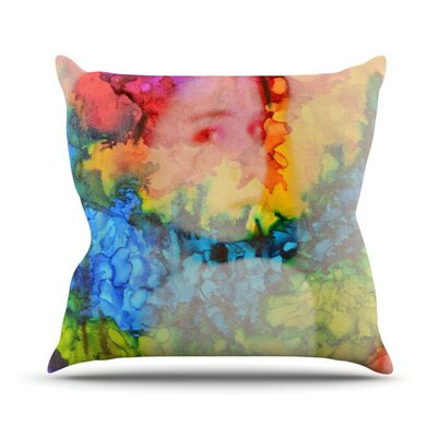 Rainbow Splatter Throw Pillow Size: 16 H x 16 W