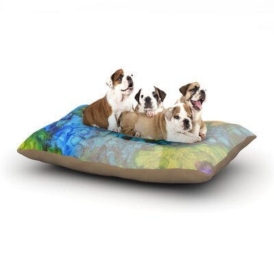 Claire Day Clairefied Paint Dog Pillow with Fleece Cozy Top Size: Large (50 W x 40 D x 8 H)