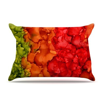 Fall Splatter by Claire Day Featherweight Pillow Sham Size: King, Fabric: Woven Polyester