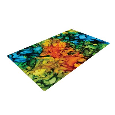 Claire Day Lowry Green/Blue Area Rug Rug Size: 2 x 3