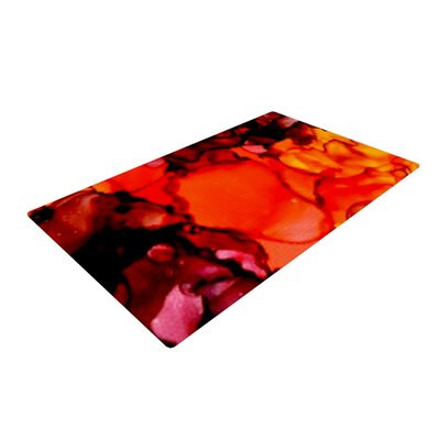 Claire Day Mordor Red Area Rug Rug Size: 2 x 3