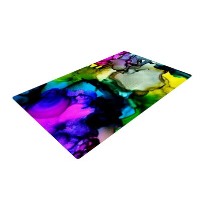 Claire Day a Little out There Pink/Blue Area Rug Rug Size: 2 x 3