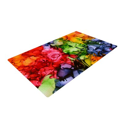 Claire Day Teachers Pet II Red/Green Area Rug Rug Size: 2 x 3