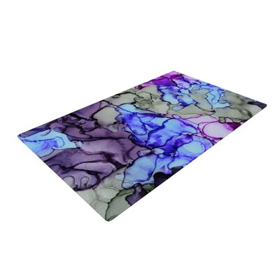 Claire Day String Theory Blue/Purple Area Rug Rug Size: 2 x 3