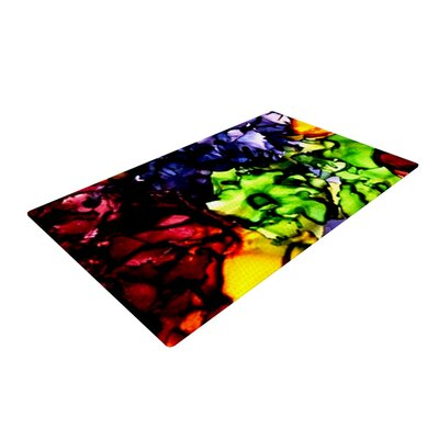Claire Day Teachers Pet Red/Green Area Rug