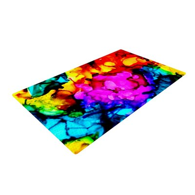 Claire Day Sweet Sour Pink/Yellow Area Rug Rug Size: 4 x 6